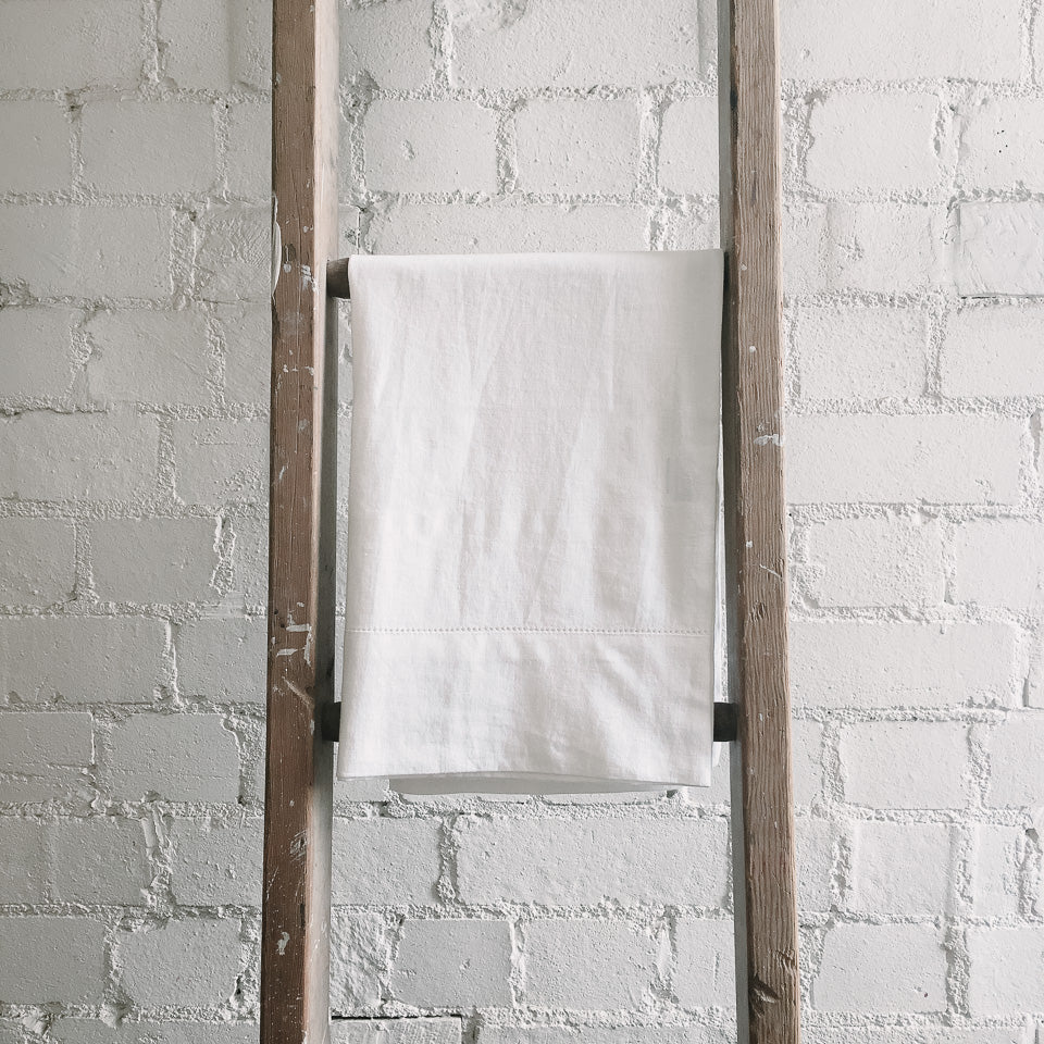Union Hemstitch White Pillowcases
