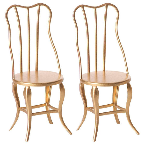 Maileg Dining Chairs - Vintage Gold