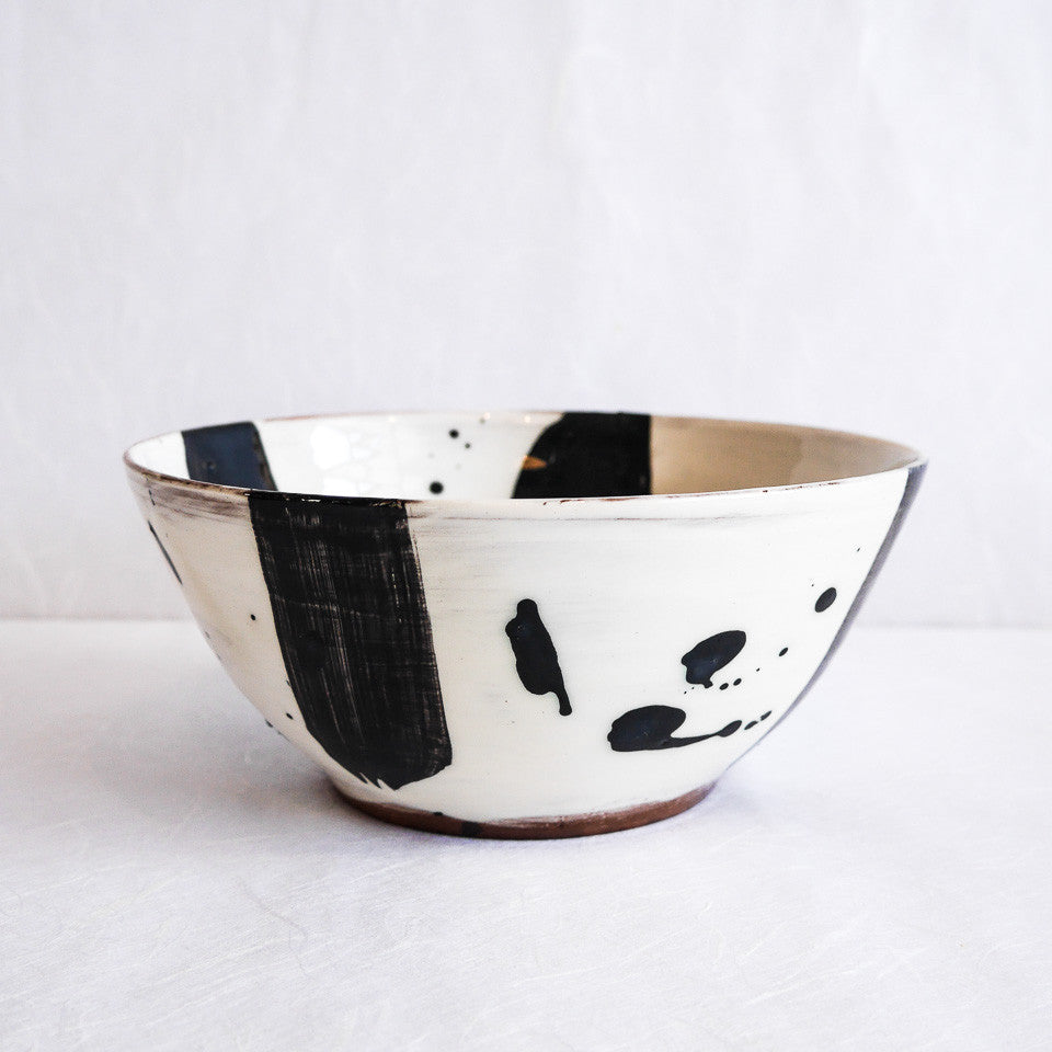 Katherine Smyth Salad Bowl | Black & White