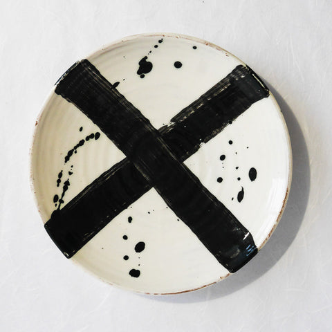 Katherine Smyth Dinner Plate | Black & White