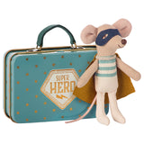 Maileg Mouse | Super Hero in Suitcase