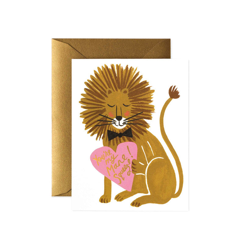 Rifle Paper Co. Greeting Card | Mane Squeeze