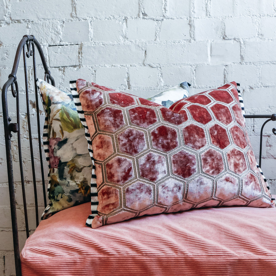 Designers Guild Manipur Coral Cushion