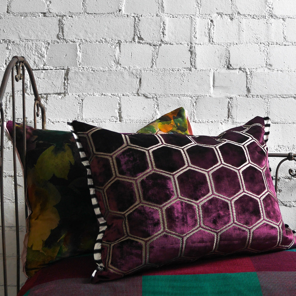 Designers Guild Manipur Damson Cushion