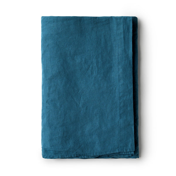Minimrkt Linen Flat Sheet | Legion Blue