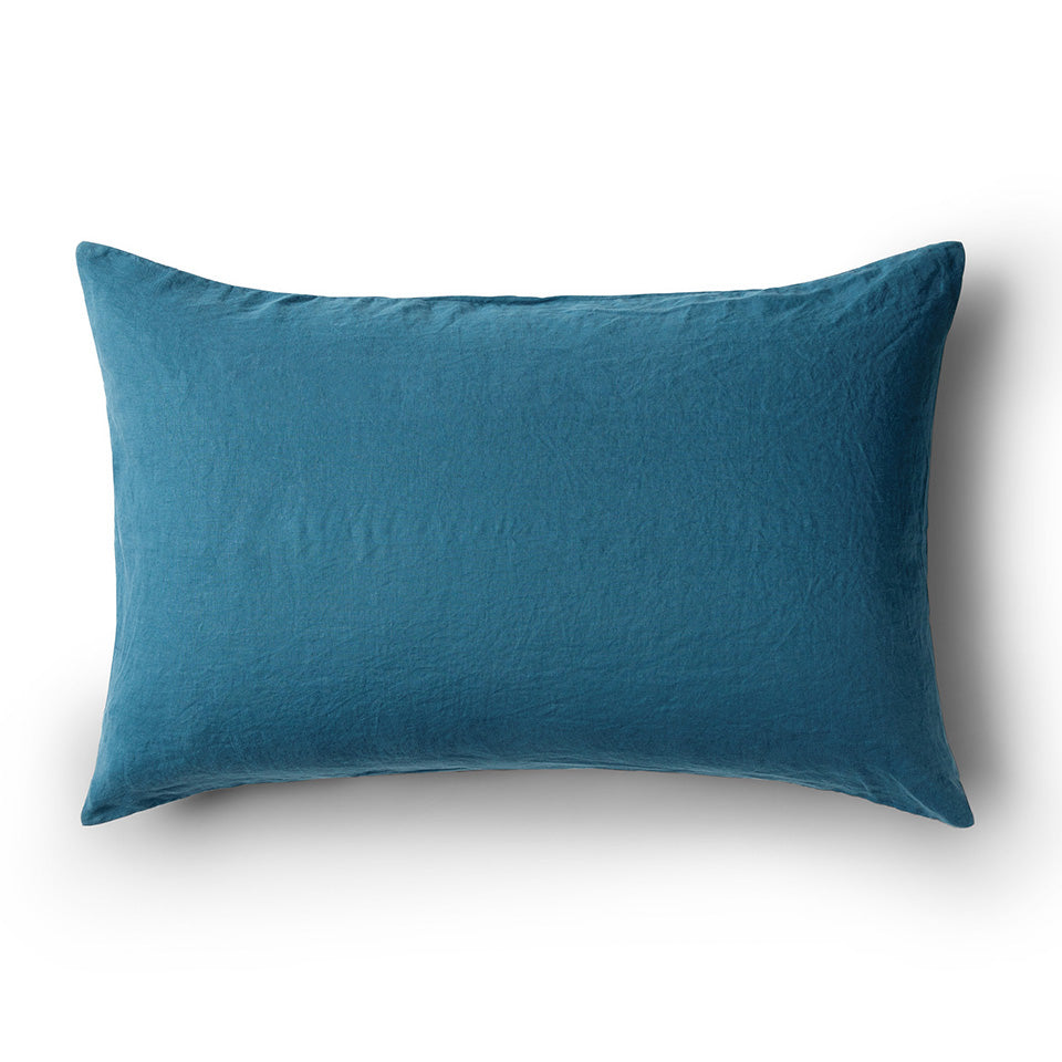 Minimrkt Linen Pillowcase | Legion Blue
