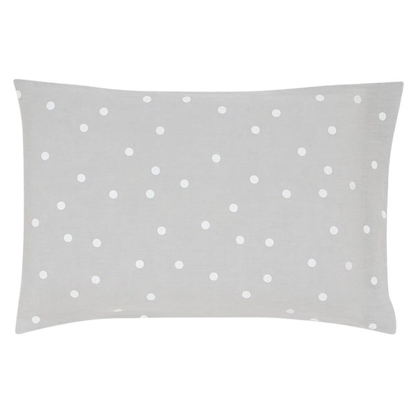 Castle Pillowcase | Grey Linen Random White Spot