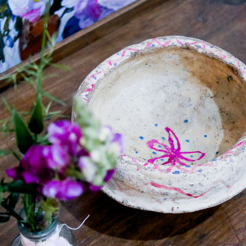Vintage Indian Paper Mache Bowl | 01