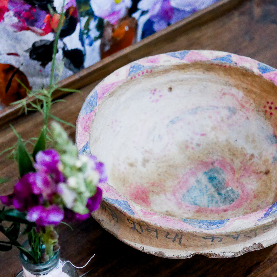 Vintage Indian Paper Mache Bowl | 06