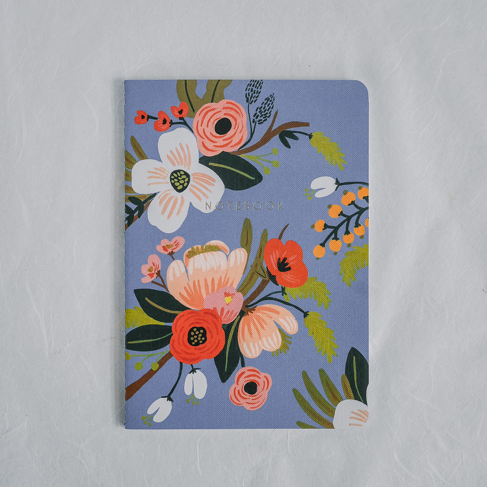 Rifle Paper Co. Notebook | Lively Floral Porcelain Blue