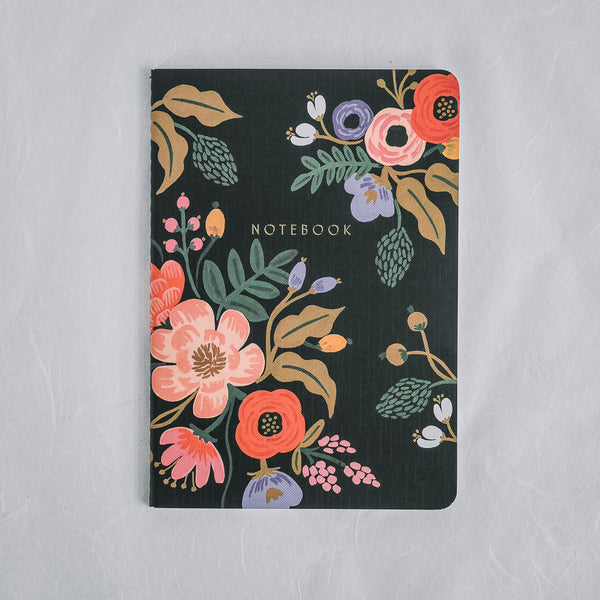 Rifle Paper Co. Notebook | Lively Floral Black