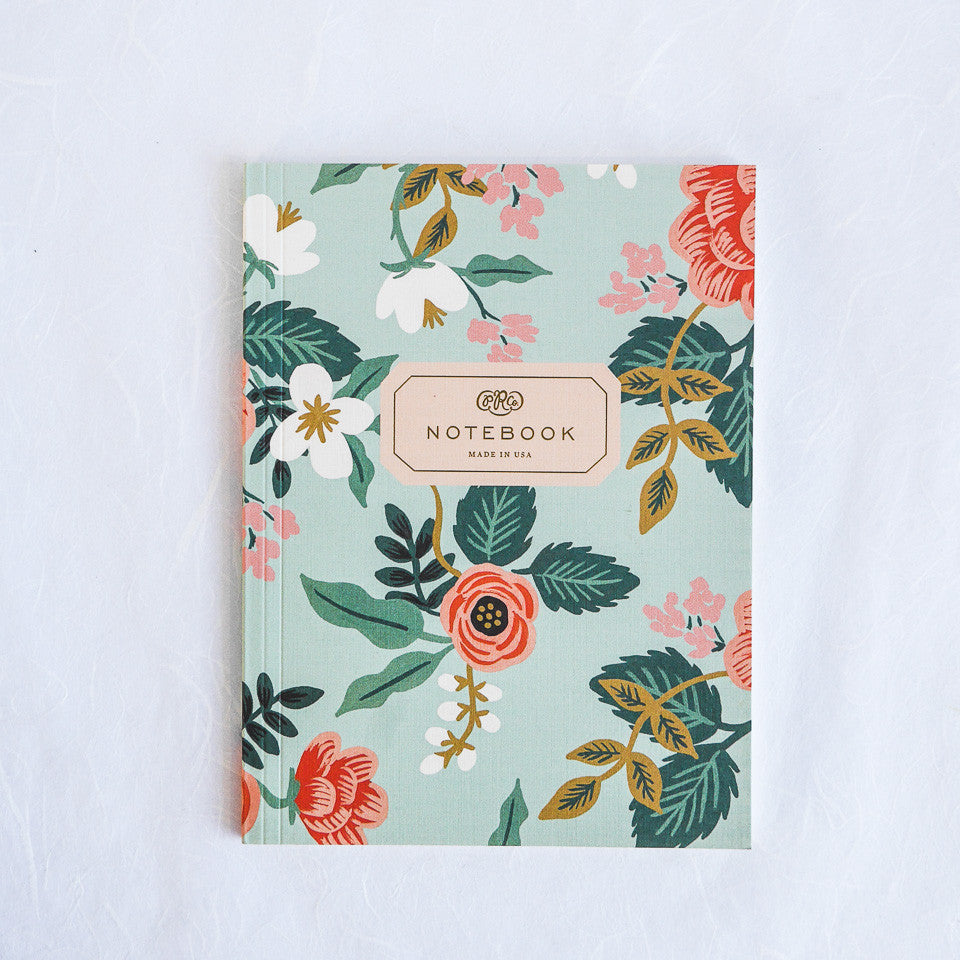 Rifle Paper Co. Notebook | Birch Floral Aqua
