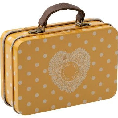 Maileg Travel Suitcase - Yellow Dot