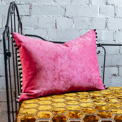 Designers Guild Tarazona Peony Velvet Cushion
