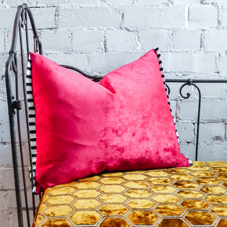 Designers Guild Tarazona Raspberry Velvet Cushion