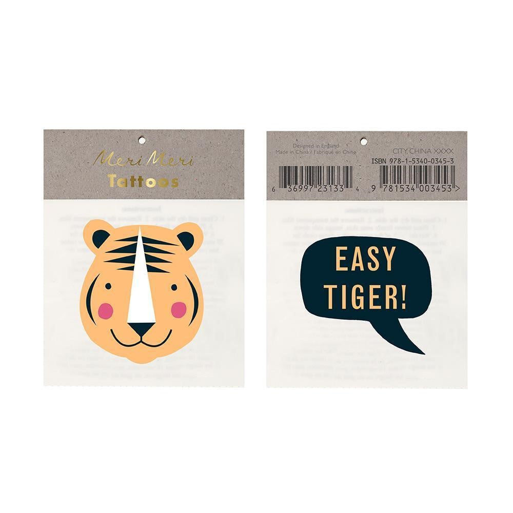 Meri Meri Temporary Tattoo ~ Easy Tiger