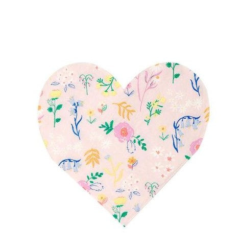 Meri Meri Wildflower Heart Napkins