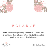 Sterling Silver Edition: Balance Necklace