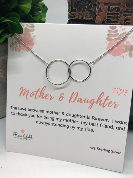 Mother and Daughter Double Circle Necklace