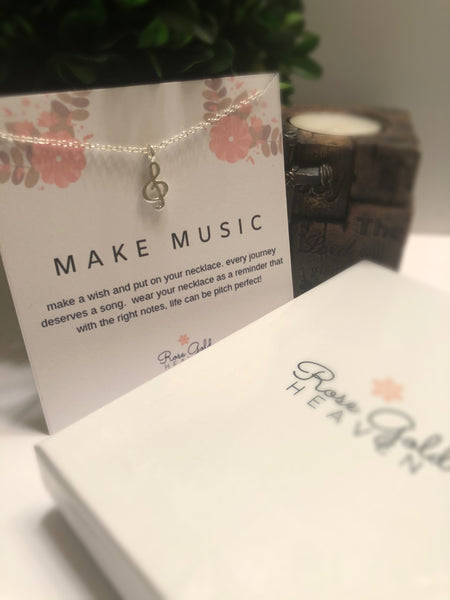 Make Music Pendant Necklace