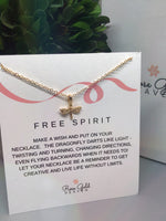 Free Spirit Dragonfly Pendant Necklace
