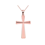 14kt Solid Gold Cross Pendant Necklace