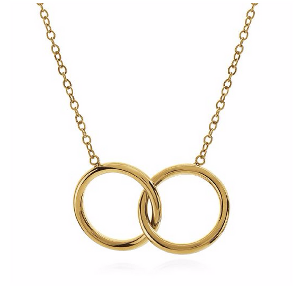 Double Circle Karma Necklace