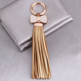 Leather Tassel  Key Chain