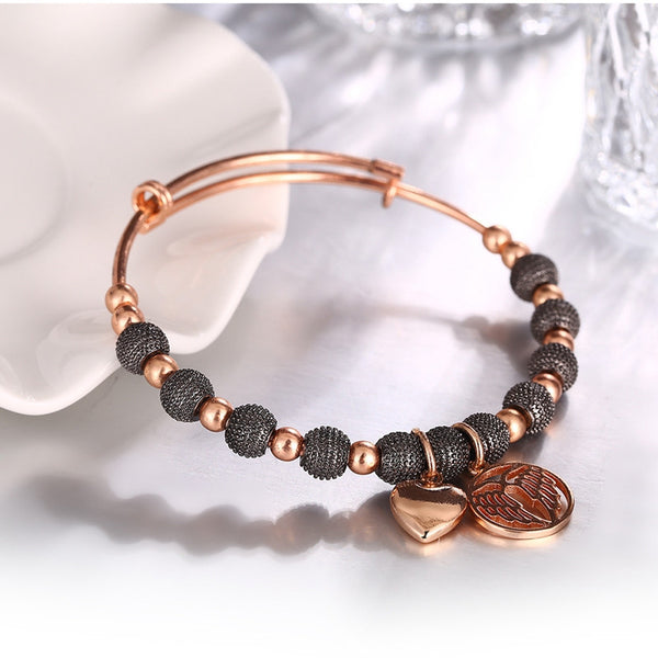 Rose Gold Bead Bracelet