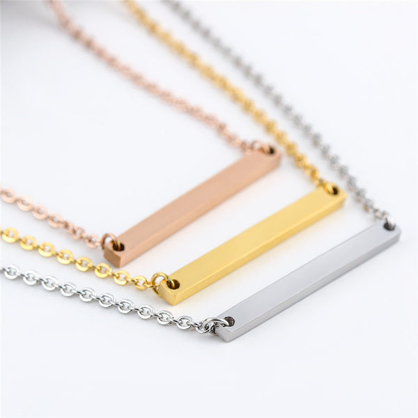 Horizontal Bar Pendant Choker