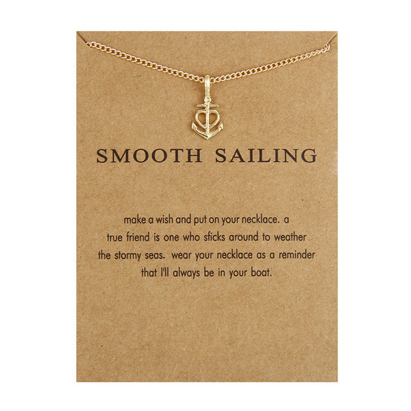 Smooth Sailing Pendant Necklace