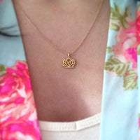 New Beginnings Lotus Pendant Necklace