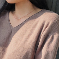 Balance Curve Tube Necklace