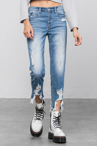 RIGHT BACK High Rise Boyfriend Jeans