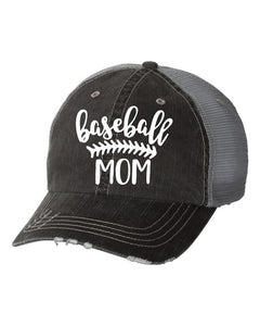 Baseball Mom Baseball Trucker Hat
