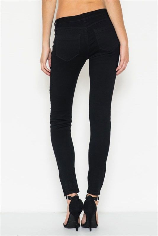 HIGHER LOVE Black Jeans