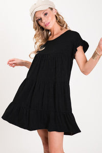 TRUE COMPANION Black-tiered Dress