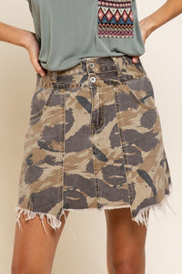 HOLD ME CLOSE Camo Mini Skirt