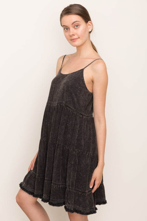REASON TO GO Charcoal Mini Dress
