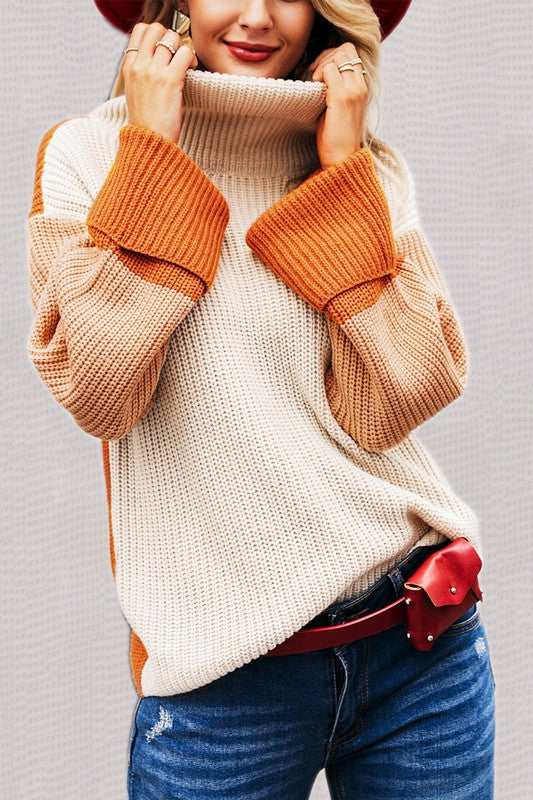 GREAT SPIRIT Color-block Sweater