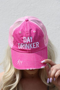 DAY DRINKER Pink Trucker Hat