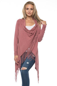 SAVE TONIGHT Fringe Sweater
