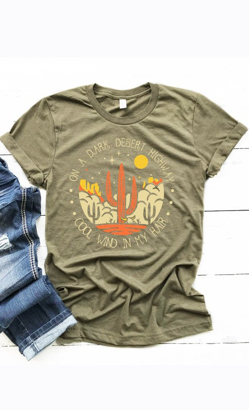 DARK DESERT HIGHWAY Graphic Tee