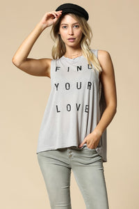zzzFIND YOUR LOVE Tank (Sold last L on Poshmark 9/22/20)