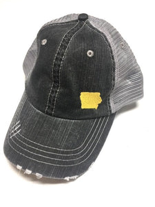 IOWA Embroidered Baseball Trucker Hat