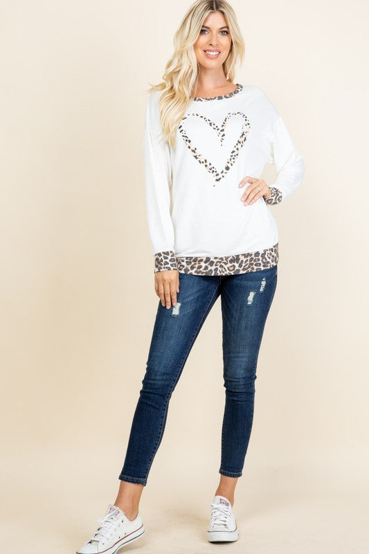 WILD WOMAN Leopard Heart Tunic