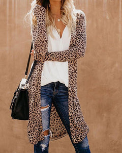 LEOPARD QUEEN Lightweight Cardigan