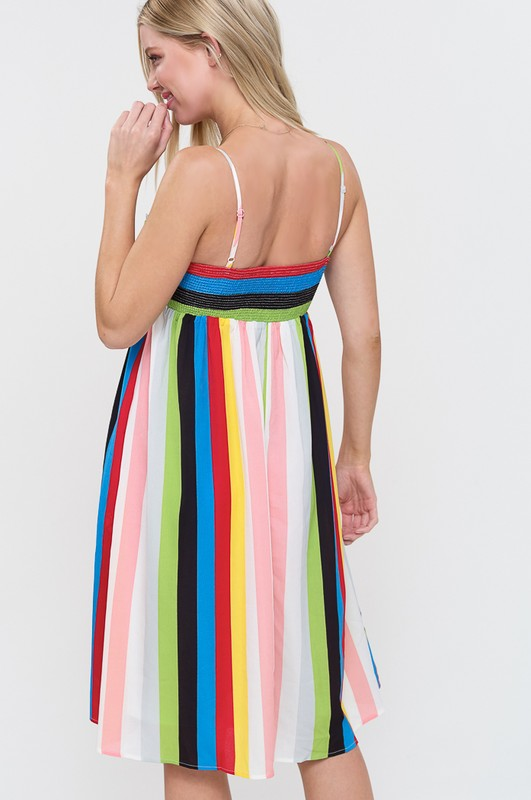 69639064ce I LL FOLLOW YOU Striped Sundress – Root   Flowers Boutique
