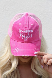 SMASHED IN NASH Pink Trucker Hat
