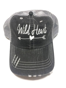 WILD HEART Embroidered Baseball Trucker Hat